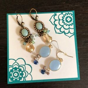 Blue stone Francesca's earring bundle